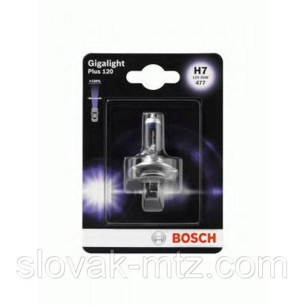 Автолампа BOSCH Gigalight Plus 120% H7 55W 12V PX26d (1987301110) 1шт./блистер